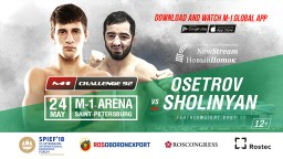 Ludwig Sholinyan will replace Bair Shtepin in the fight against Alexander Osetrov at M-1 Challenge 92