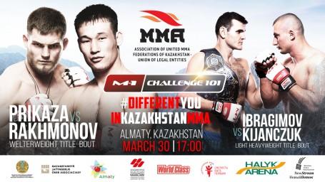 Two title fights will headline M-1 Challenge 101 in Kazakhstan!