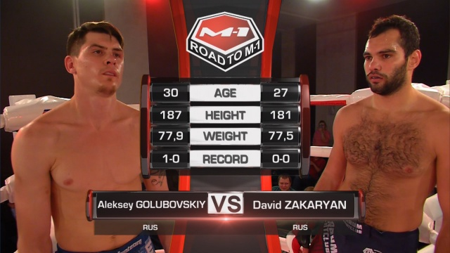 Алексей Голубовский vs Давид Закарян, Road to M-1: Chelyabinsk