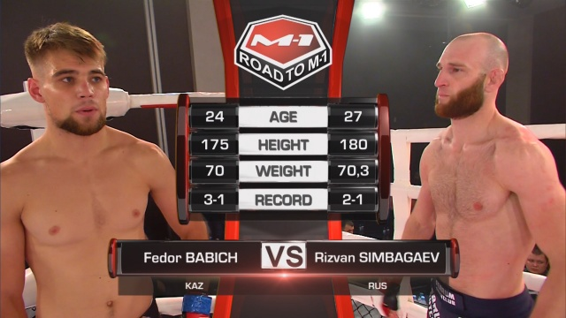 Федор Бабич vs Ризван Симбагаев, Road to M-1: Chelyabinsk