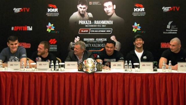 Press-conference before M-1 Challenge 101, Almaty, Kazakhstan