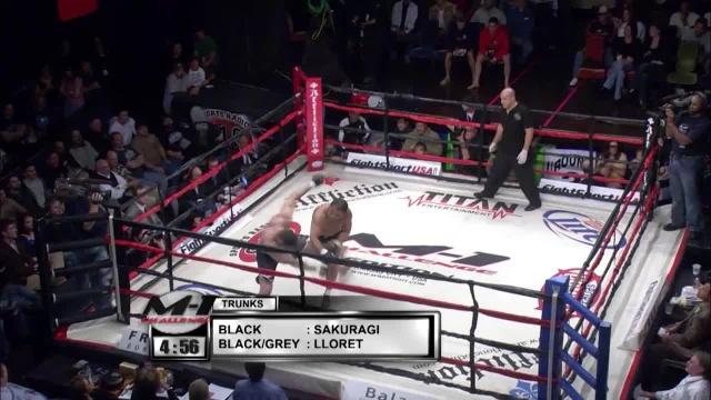 Юджи Сакураги vs Роджент Ллорет, M-1 Challenge 08