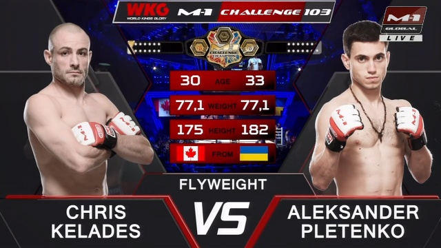 Крис Келадес vs Александр Плетенко, M-1 Challenge 103