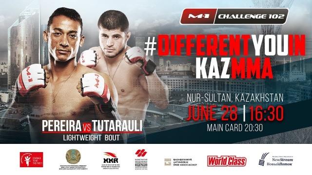 Рубенилтон Перейра vs Раул Тутараули на M-1 Challenge 102, 28 июня, Нур-Султан, Казахстан