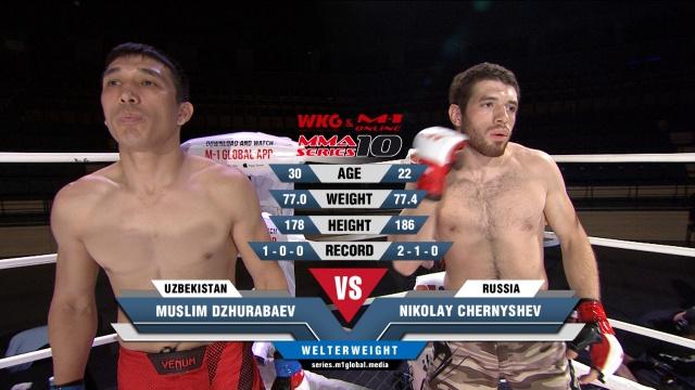 Муслим Джурабаев vs Николай Чернышев, MMA Series 10: M-1 Online & WKG