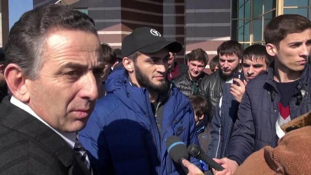 Как встретили Абукара Яндиева в Ингушетии