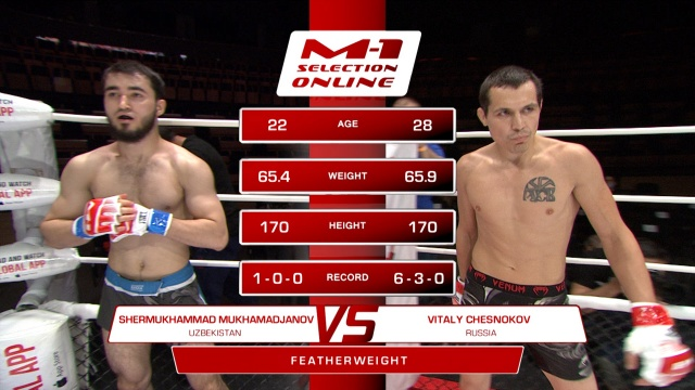 Шермухаммад Нозим угли Мухамаджанов vs Виталий Чесноков, M-1 Selection Online 1