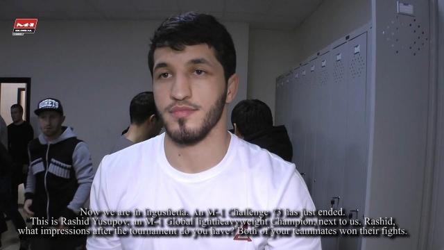 Рашид Юсупов о бое со Штефаном Пютцем на M-1 Challenge 74