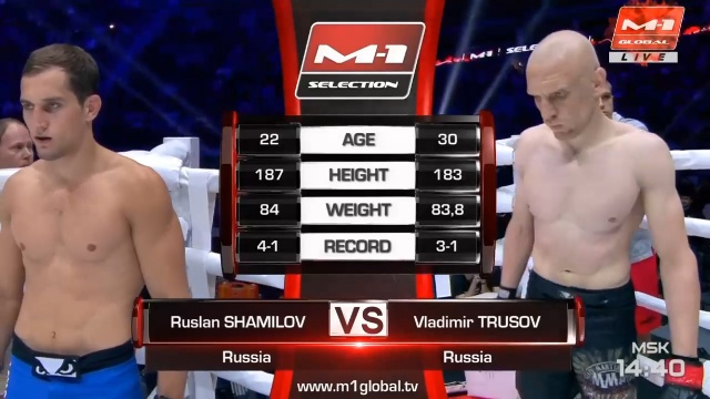 Ruslan Shamilov vs Vladimir Trusov, M-1 Challenge 102
