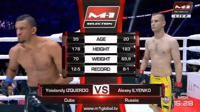 Йоисланди Изкердо vs Алексей Ильенко, M-1 Challenge 102