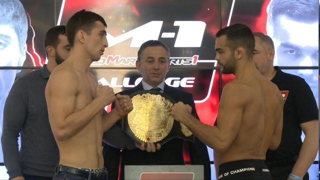 M-1 Challenge 86: Бухингер vs Далгиев, взвешивание | official weigh-in