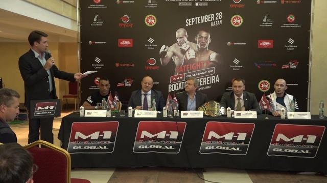 Пресс-конференция перед M-1 Challenge 97&Tatfight 7, 27 сентября, Казань