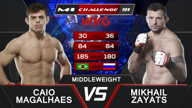Кайо Магальяэш vs Михаил Заяц, M-1&WKG Challenge 91