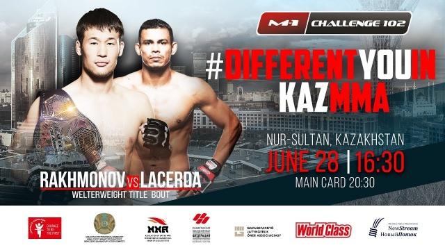 Shavkat Rakhmonov vs Tiago Varejao Lacerda on M-1 Challenge 102, Nur-Sultan, Kazakhstan