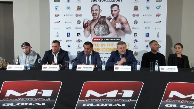 M-1 Challenge 104 Press-conference, August 29, Orenburg, Russia