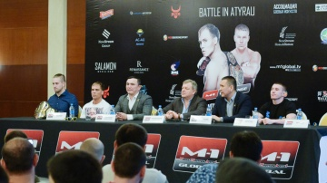 Пресс-конференция перед M-1 Challenge Battle in Atyrau