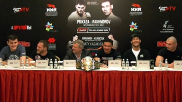 Press-conference before M-1 Challenge 101, Almaty, Kazakhstan