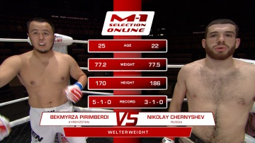 Pirimberdi Uulu Bekmyrza Ali vs Nikolay Chernyshev, M-1 Selection Online 1
