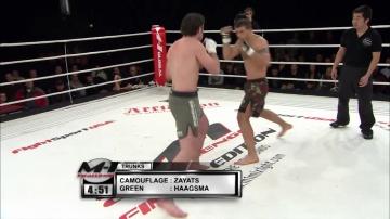 Михаил Заяц vs Дэвид Хээгсма, M-1 Challenge 11