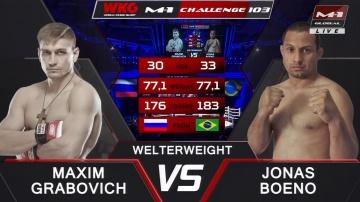 Максим Грабович vs Жонас Буэно, M-1 Challenge 103