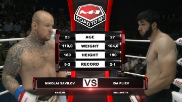 Nikolay Savilov vs Isa Pliev, Road to M-1