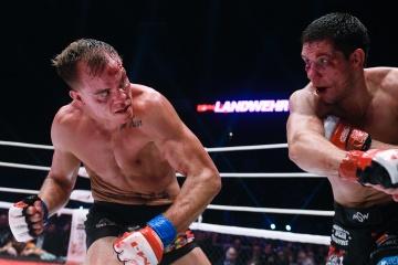 Нэйт Ландвер vs Виктор Колесник, M-1 Challenge 85