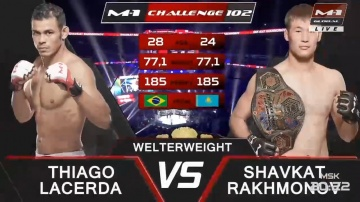 Tiago Varejao Lacerda vs Shavkat Rakhmonov, M-1 Challenge 102