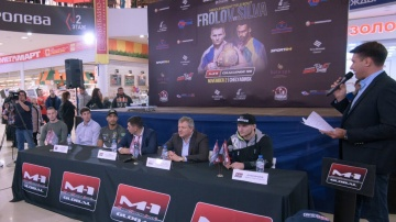 Press conference before the M-1 Challenge 98, November 1, Chelyabinsk