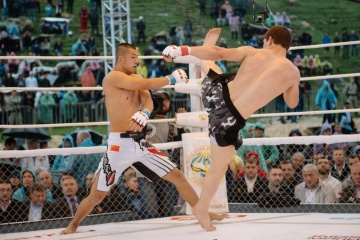Лю Жен Хонг vs Мовсар Евлоев, M-1 Challenge 58