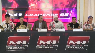 Press-conference before M-1 Challenge 95, Targim, Ingushetia, Russia