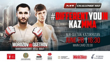 Sergey Morozov (14-4) vs Alexander Osetrov (5-0-1) on M-1 Challenge 102, Nur-Sultan, Kazakhstan