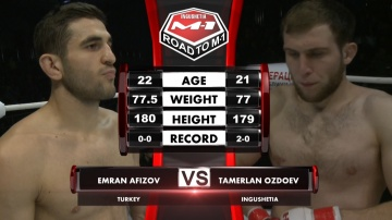 Emran Afizov vs Tamerlan Ozdoev, Road to M-1