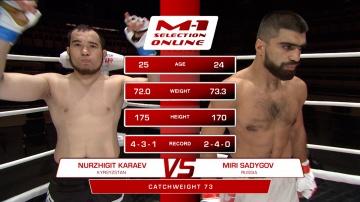 Nurzhigit Karaev vs Miri Sadygov, M-1 Selection Online 1