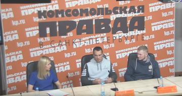 "В пресс-центре ""Комсомолки"" бойцы лиги M-1 Challenge"