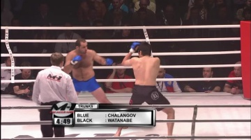 Юта Ватанабе vs Ансар Чалангов, M-1 Challenge 02