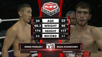 Semen Poselsky vs Musa Khamkhoev, Road to M-1