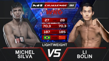 Мичел Сильва vs Болин Ли, M-1&WKG Challenge 91