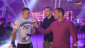 Interview with Boris Medvedev immediately after the victory