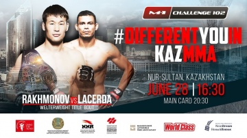 Шавкат Рахмонов (11-0) vs Тьяго Варежао Ласерда (28-6-1-1) на M-1 Challenge 102, Нур-Султан, 28 июня