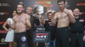 M-1 Challenge 101 weigh-in, Almaty, Kazakhstan